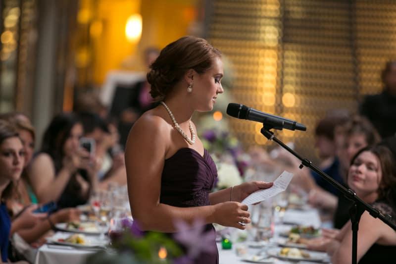 maid of honor speech at cleveland arcade wedding reception