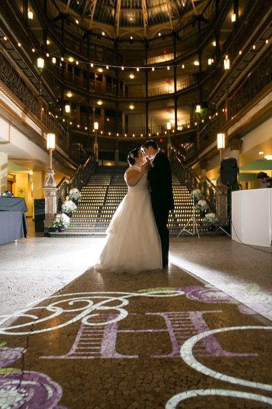 first dance at cleveland arcade wedding reception