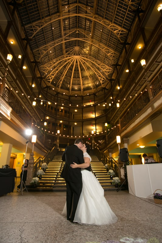 cleveland arcade wedding reception picture