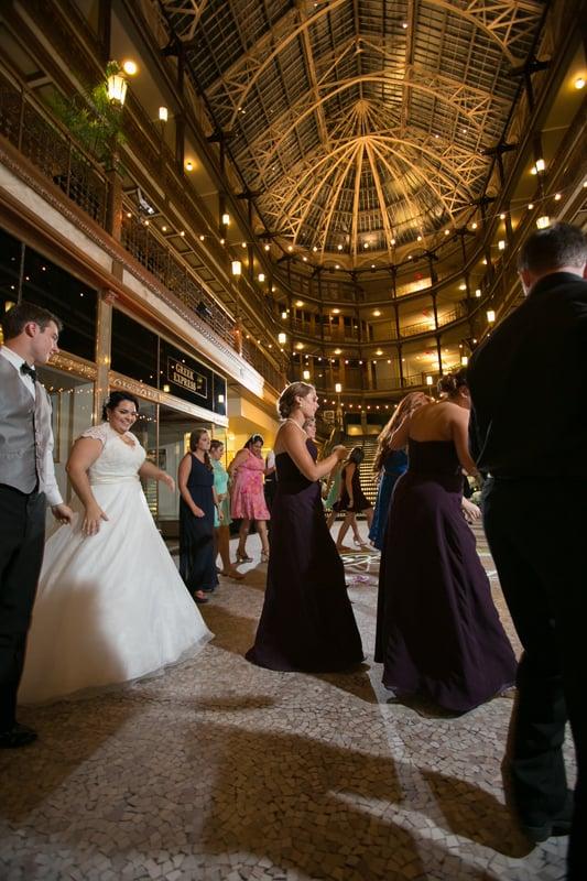 more cleveland arcade wedding reception picutres