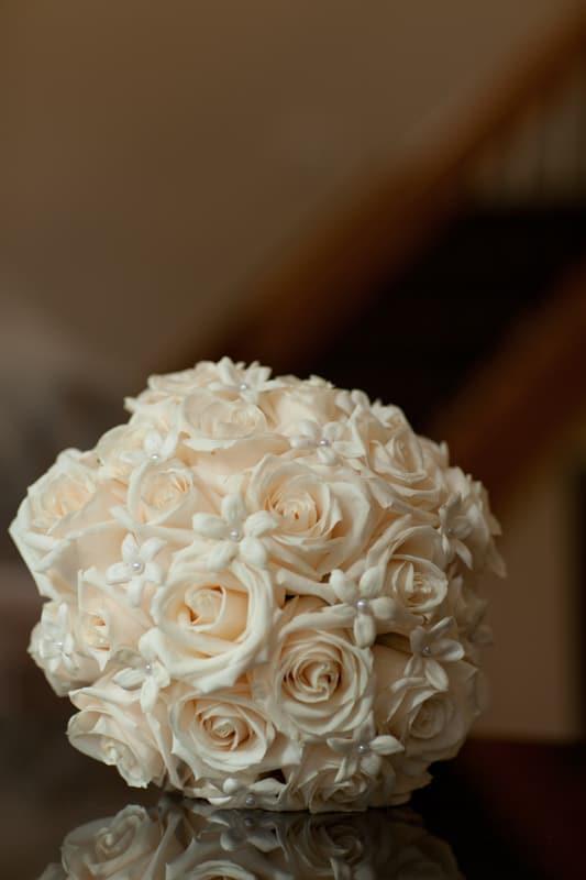 bridal bouquet in firestone suite