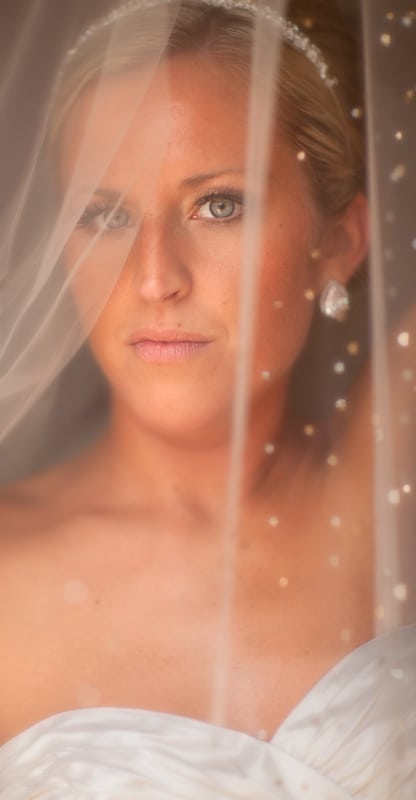 wedding day picture of the bride