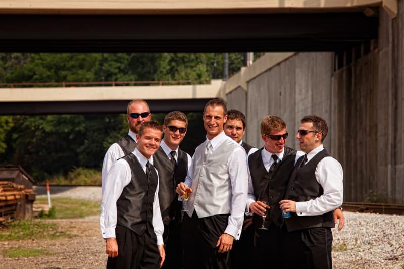 groomsmen in downtown akron