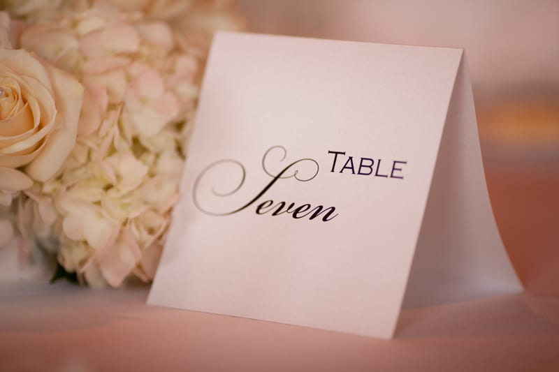 table number at firestone wedding reception