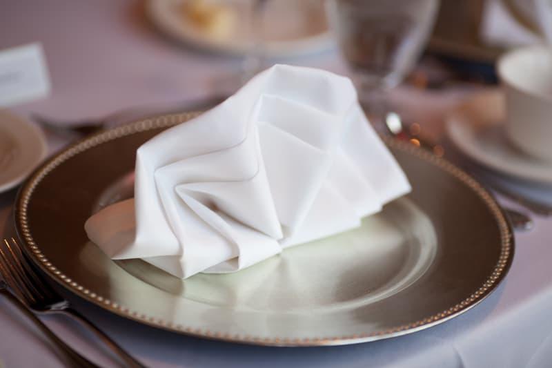napkin table detail at firestone