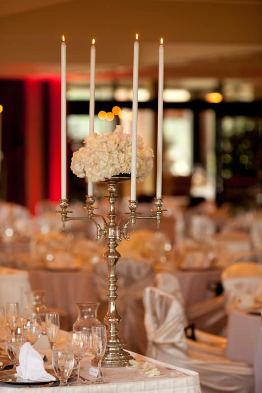 another candle detail at firestone reception