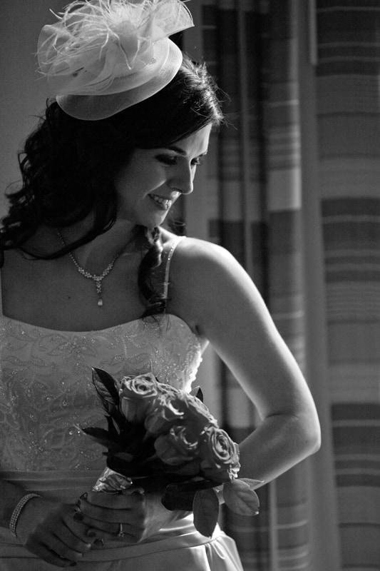 wedding picture of bride in hyatt regency