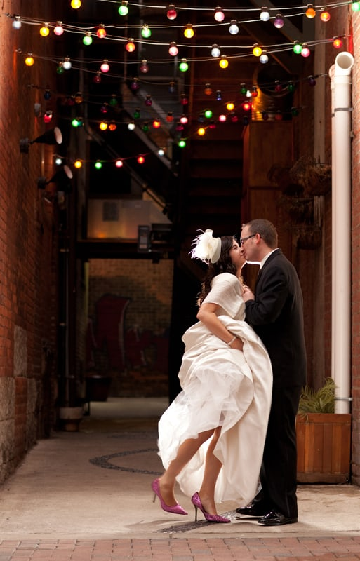 wedding day picture on cleveland east fourth street