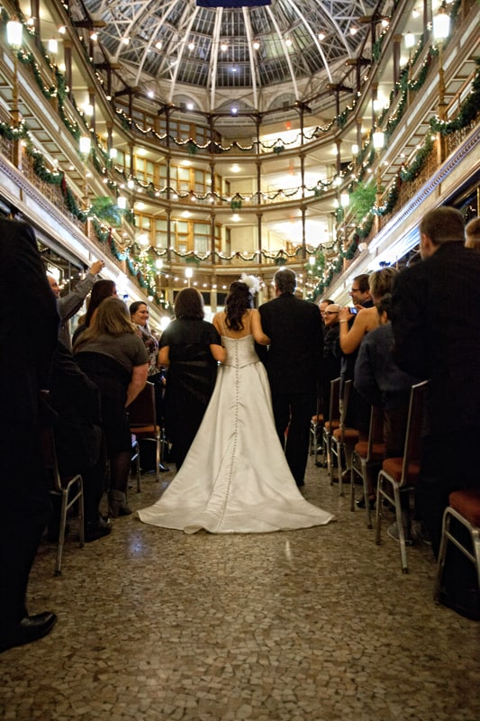 wedding at cleveland arcade