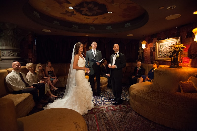 wedding ceremony at house of blues