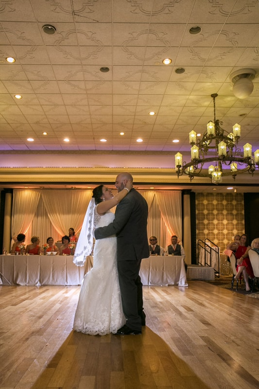 first dance at wedding reception at tangier