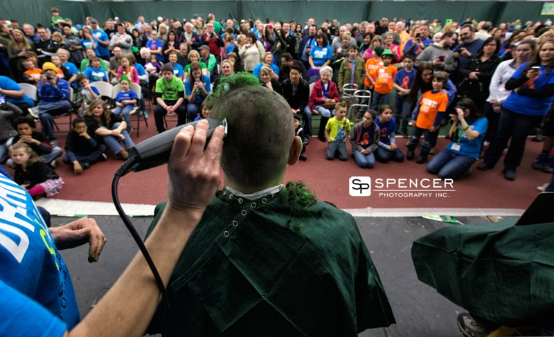 wide shot of crowd at st. baldrick's fundraiser