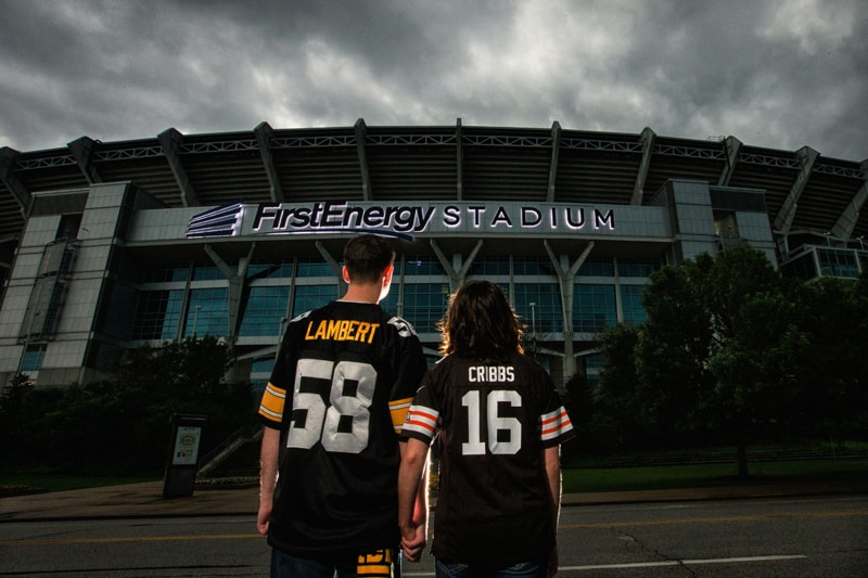 engagement picture at first energy stadium