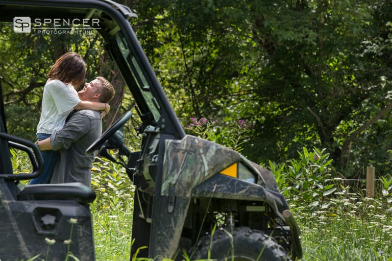 engagement picture with four wheeler