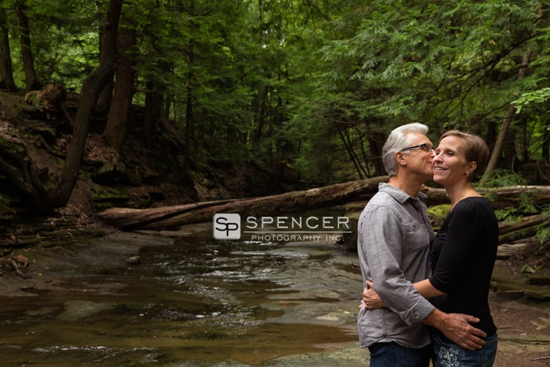 engagment picture in middle of stream