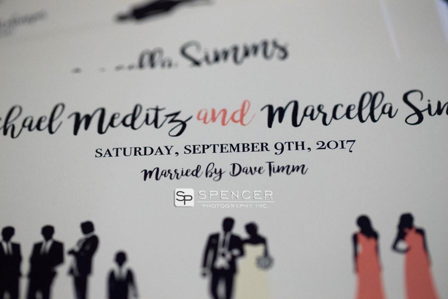 wedding day program
