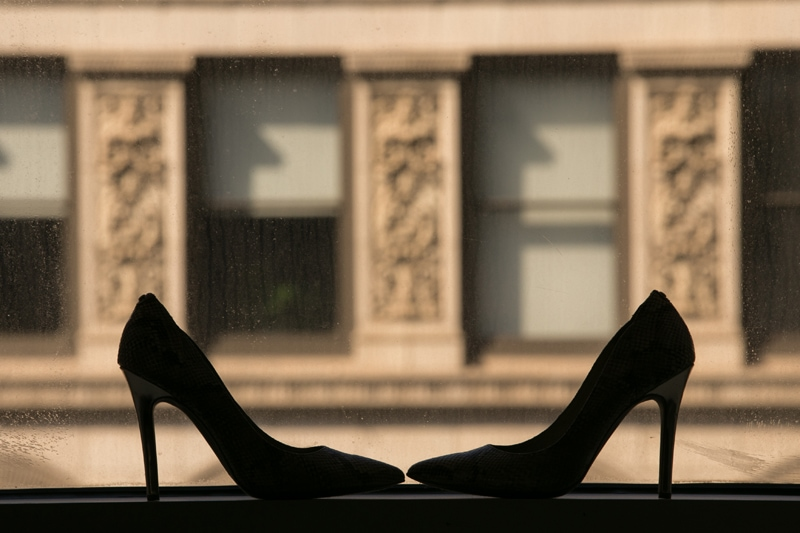 wedding shoes in window of metropolitan at the 9