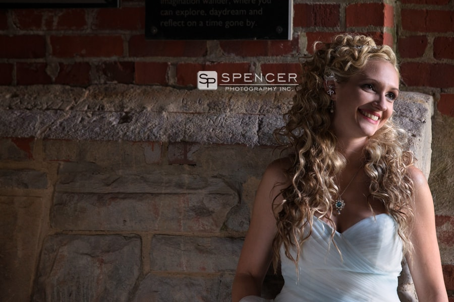 bride after her wedding at squires castle