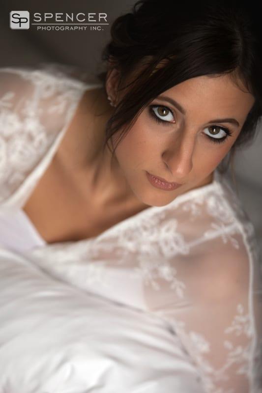 wedding day boudoir picture