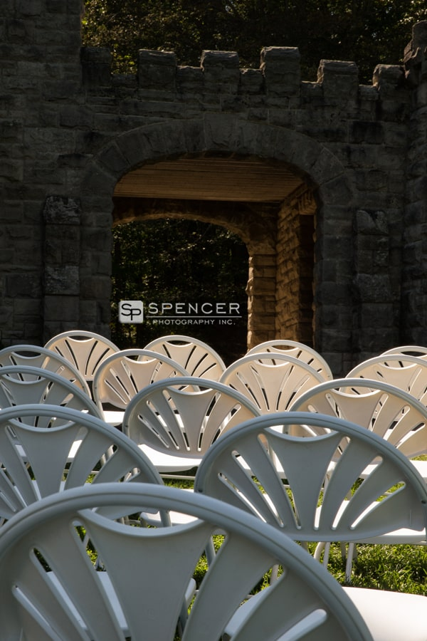 chairs set up for wedding at squires castle