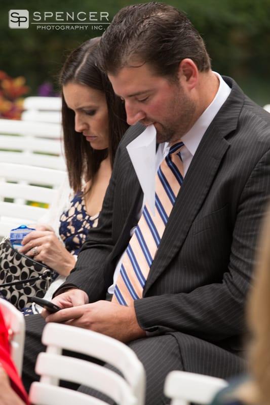 wedding guest at chagrin falls wedding