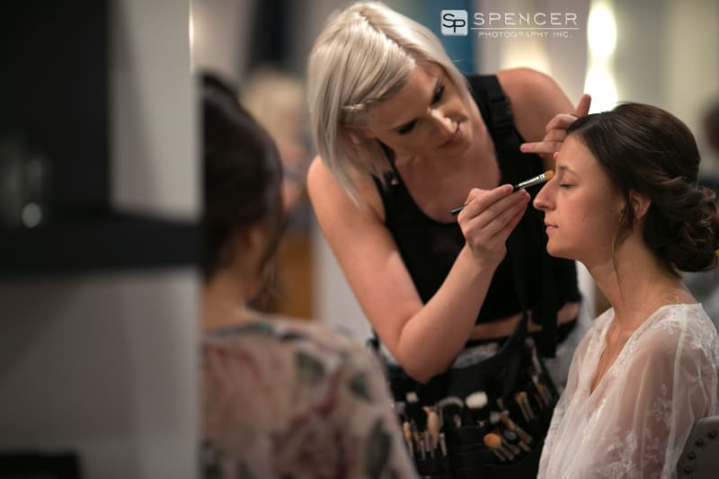 making being applied to bride at gravity