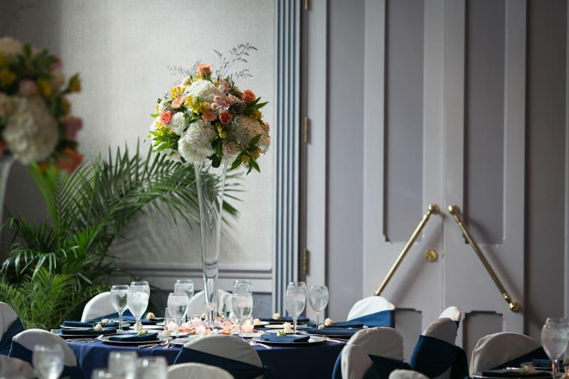 landerhaven wedding reception centerpiece