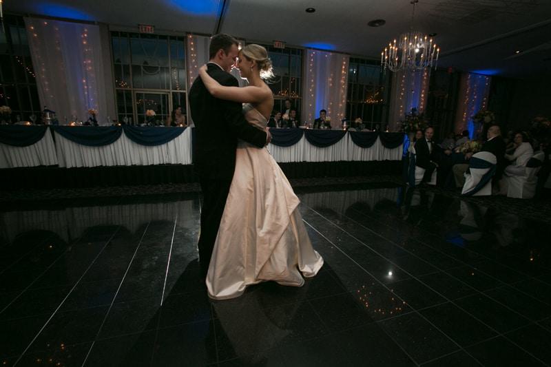 first dance at wedding reception at landerhaven