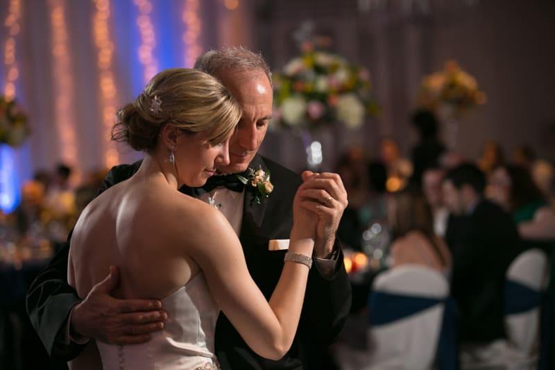 bride dancing with dad at landerhaven reception