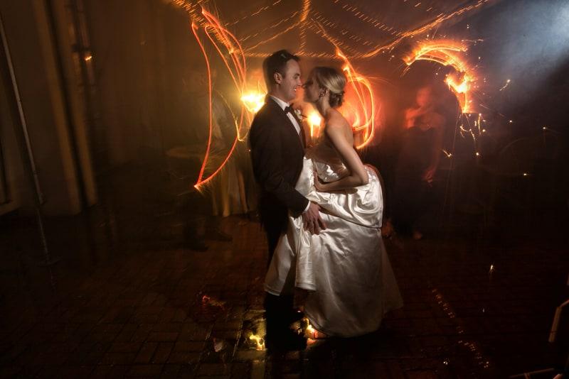 end of night at landerhaven wedding reception