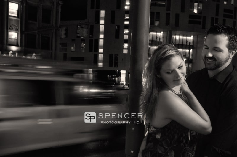 downtown cleveland engagement picture