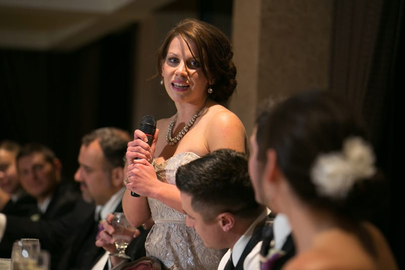 maid of honor speech at wedding reception at firestone