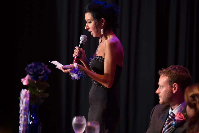 maid of honor speech at house of blues reception