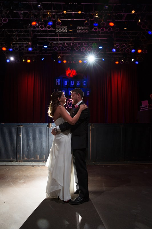 first dance wedding and reception at house of blues