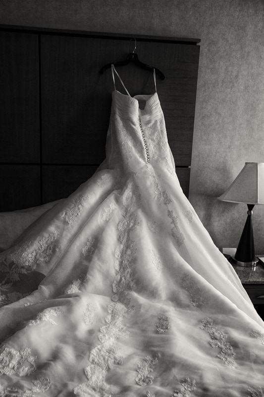wedding dress at hyatt regency