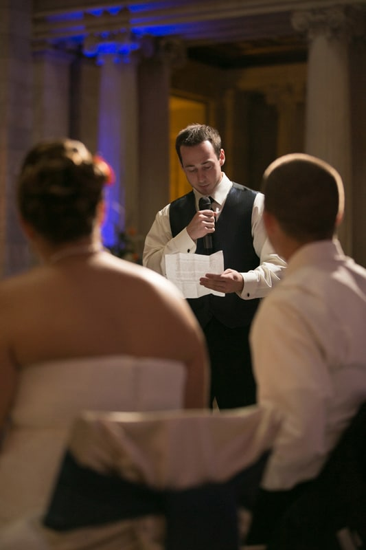 best man speech at wedding reception at old courthouse
