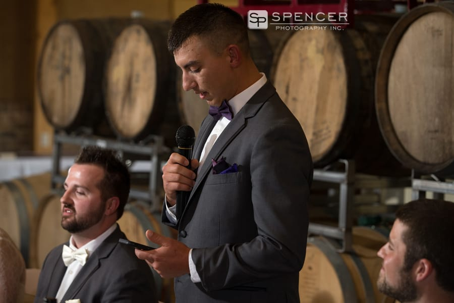 best man speech at reception at breitenbach winery