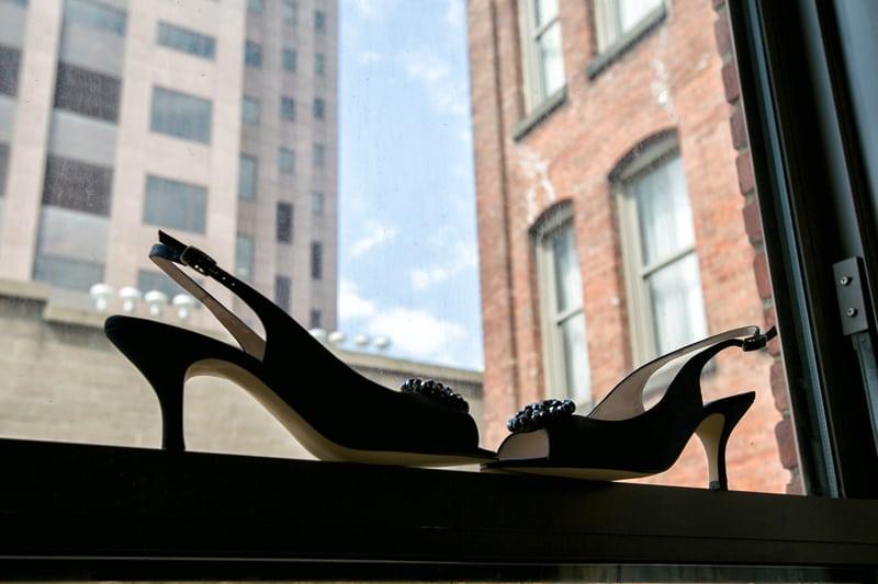 wedding shoes at hyatt regency