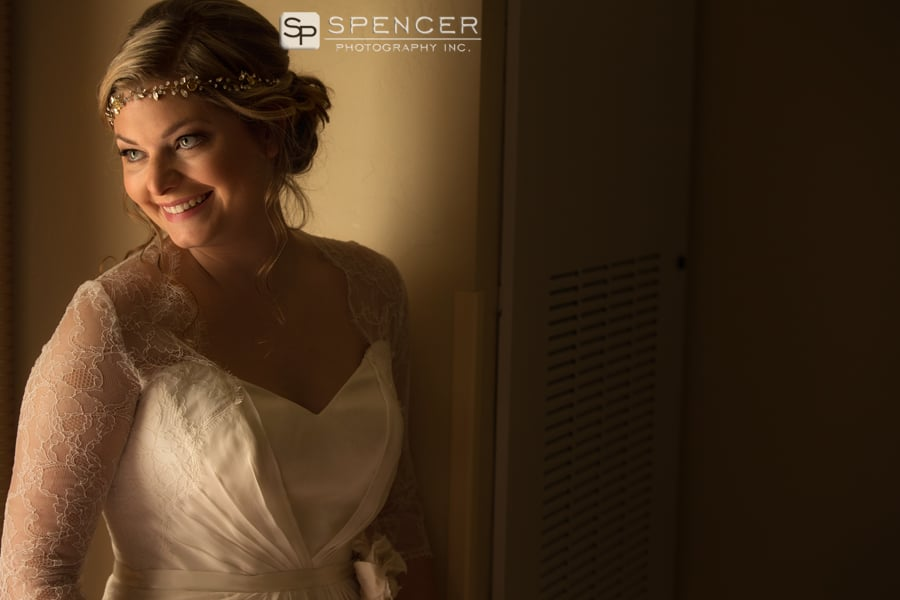 wedding day picture of bride in dover ohio