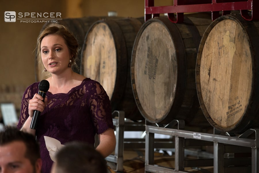 maid of honor speech at wedding reception at breitenbach