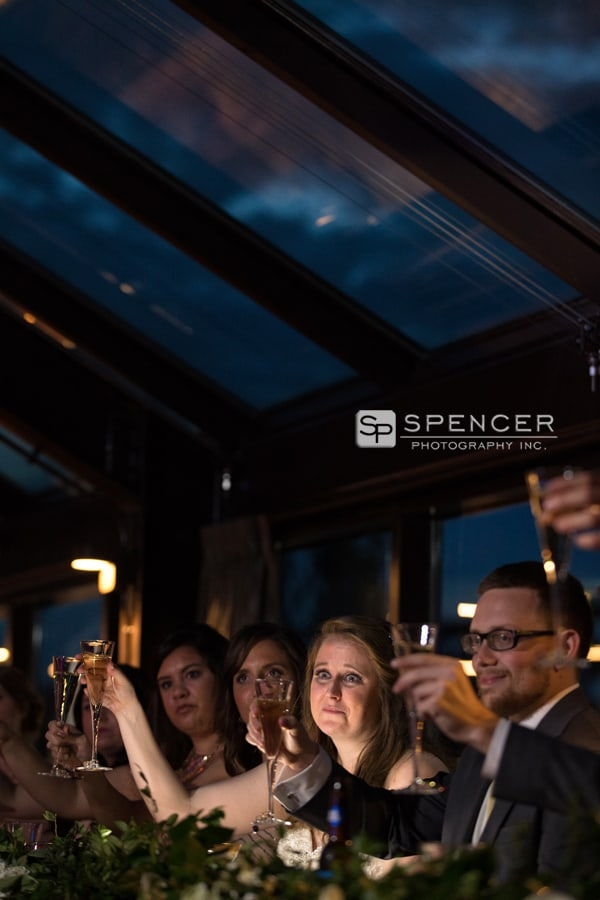 a reception toast