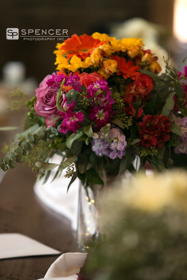 wedding bouquet at breitenbach reception