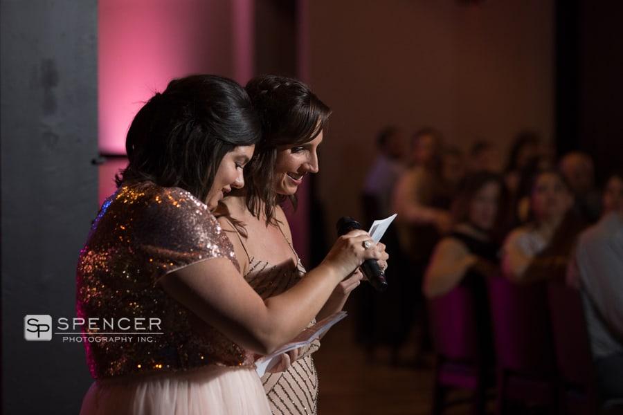 bridesmaid speeches music box supper club