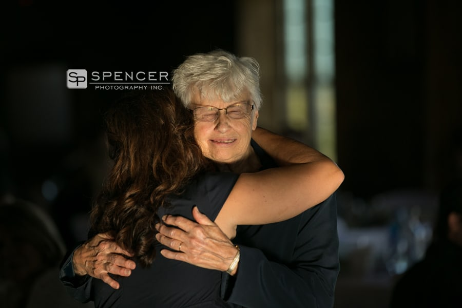 grandma hugging mom at breitenbach