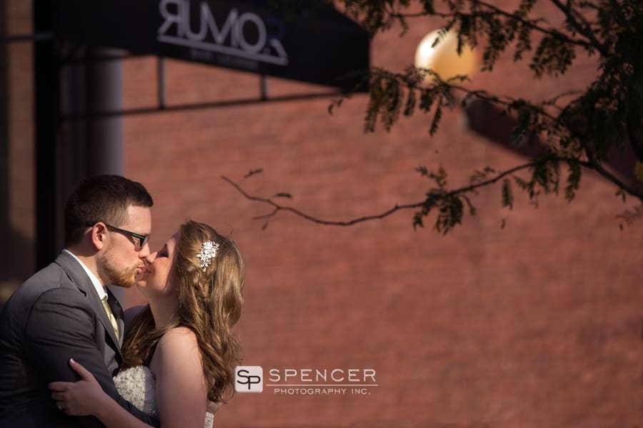 wedding day picture on cleveland west 6th street