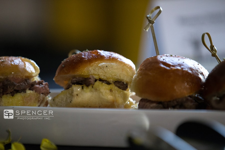 sliders at cleveland wedding event