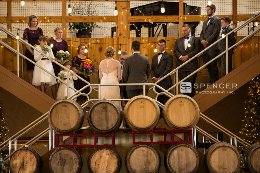 wedding ceremony at breitenbach winery