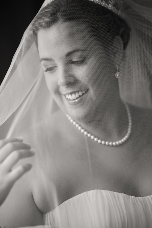 wedding picture of bride at hyatt regency