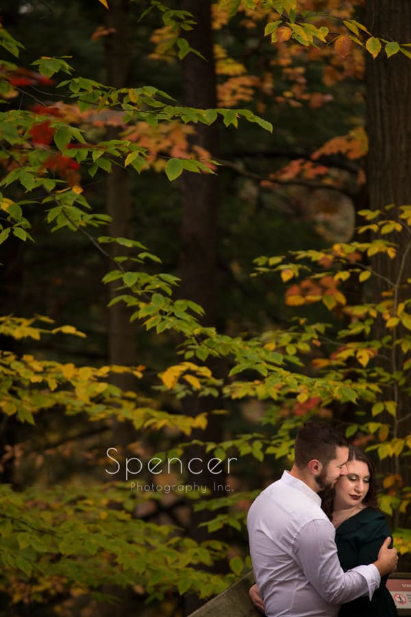 brandywine falls autumn engagement picture