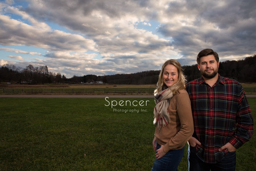 picture of couple standing at hale farm and village